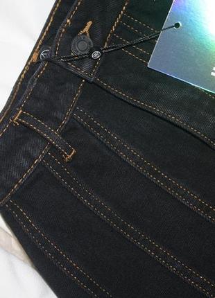 Темно синяя прошитая джинсовая юбочка. джинс не тянется missguided3 фото