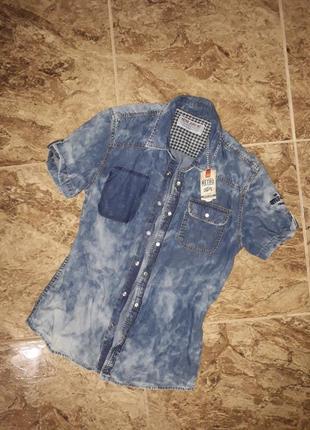 Джинсовая винтажная  рубашка от retro jeans company