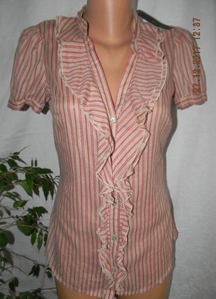 Распродажа!!!легкая новая блуза в полоску benetton