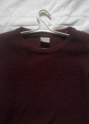 Бордовый теплый свитер veromoda2 фото