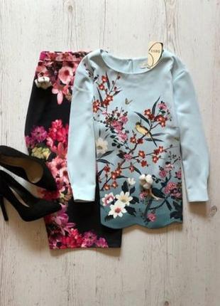 Шикарная блуза с принтом oasis