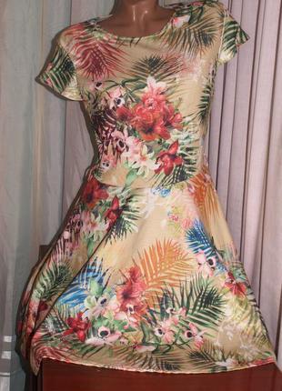 Классное платье (м замеры) с узором, превосходно смотрится