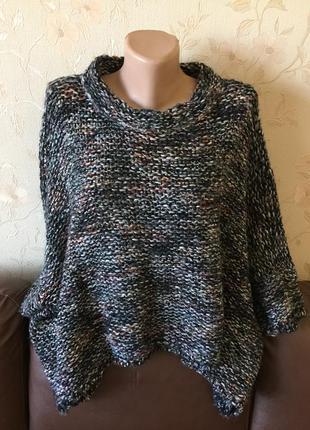Крутой оверсайз свитер с шерстью в составе от zara