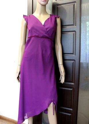 Новое с биркой! красивое нарядное шифоновое платье anna sui
