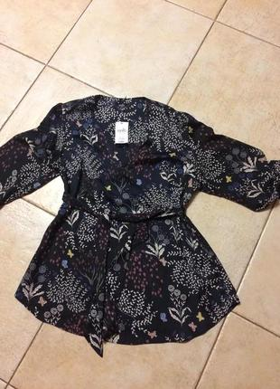 Стильная нарядная блуза  в актуальный цветочный принт wallis!