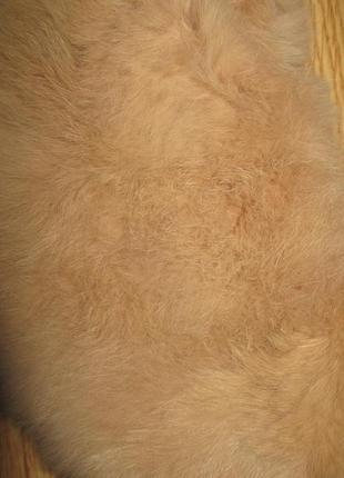 Бежевий комір з натуральний кролик3