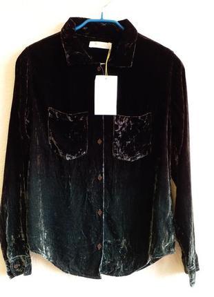 Бархатная блузка с шелком rabens saloner