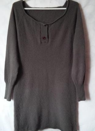 Fabiani! кашемир! длинный свитер-платье 100% кашемир