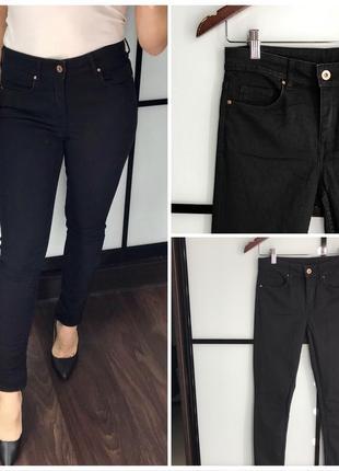 Крутые чёрные джинсы / чёрные штаны в обтяжку скинни / skinny