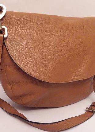Шикарная статусная брендовая кожаная сумка mulberry
