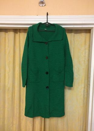 Насыщенное вязаное пальто s-l