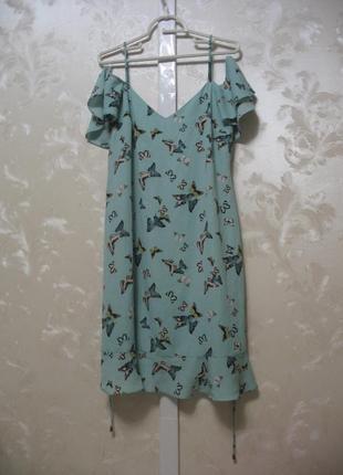 Платье с открытыми плечами  oasis