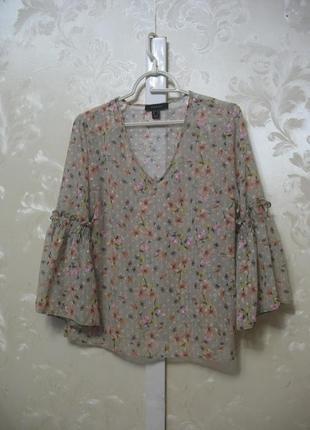 Полупрозрачная блуза с воланами на рукавах atmosphere