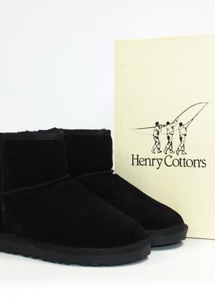 Зимние угги henry cottons оригинал. натуральная замша, мех. 36-41