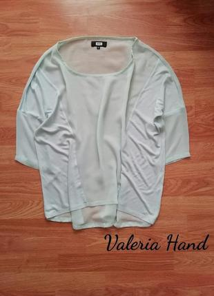 Нежная легкая мятная блуза - туника оверсайз  bik bok - размер 46-50