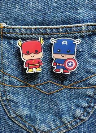 Набор брошек #heroes - собери свой сет!