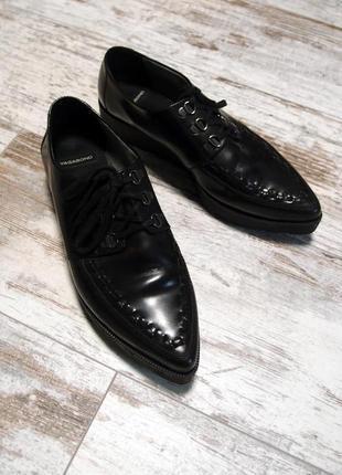 Ботинки vagabond кожаные на платформе 39p