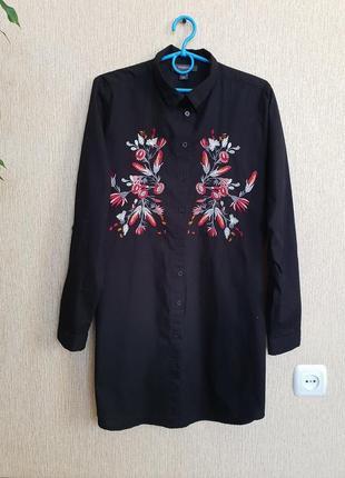 Красивая, стильная рубашка с вышивкой atmoshere
