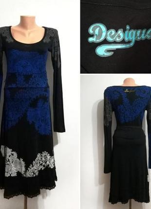 Распродажа! трикотажное платье миди от desigual, m-l