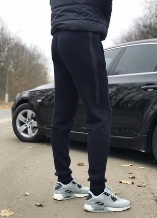 (s, m, l, xl, xxl) зимние мужские штаны на манжетах от производителя. цвет  синий