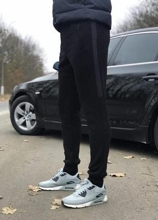 (s, m, l, xl, xxl) зимние мужские штаны на манжетах от производителя. цвет черный
