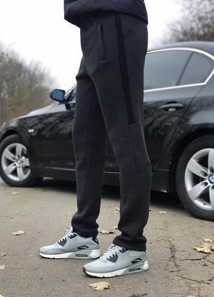 (s, m, l, xl, xxl) зимние мужские штаны слегка зауженные от производителя. цвет серый1