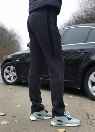 (s, m, l, xl, xxl) зимние мужские штаны слегка зауженные от производителя. цвет серый2