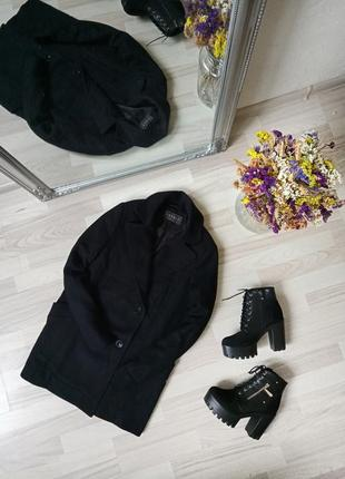 Добротное базовое шерстяное пальто прямого кроя esprit, 80% wool ❤️