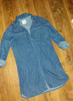 Плаття-сорочка з тонкого джинсу denim co
