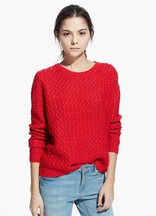 Красный свитер mango