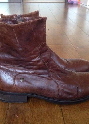 Сапоги-ботинки броги bronx кожа голандия дорого выглядят р. 44, 29.5 см.