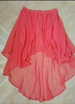 Шифоновая юбка с ассиметрией