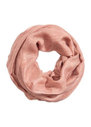Тонкий прубчатый шарф h&m .