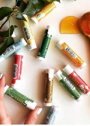 Бальза для губ на основі бджолиного воску.organic lip balms