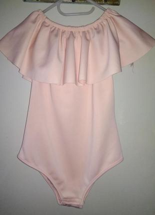 Боди-блуза комбидресс цвет пудра англия