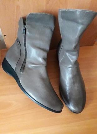 41 р. кожаные комфортные ботинки сапоги mephisto