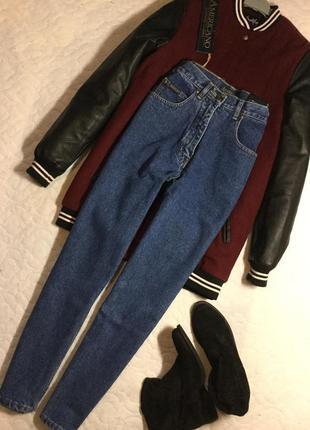 Синие джинсы мом americano authentic classic размер s