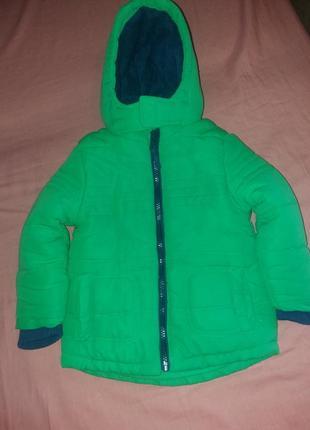 Якрая теплая куртка-парка