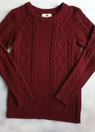 Уютный свитер бордового цвета, подходит и на xs /s