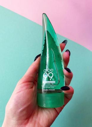Успокаивающий и увлажняющий гель holika holika aloe 99% soothing gel