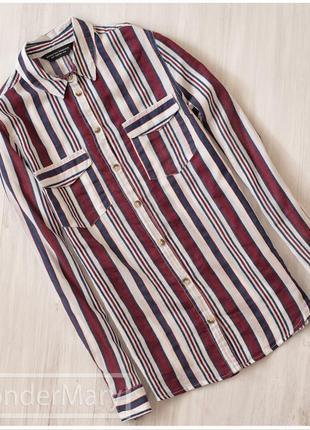 Стильная хлопковая рубашка в полоску