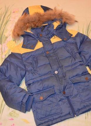 Куртка  пуховик bellini италия на 4 года рост 104