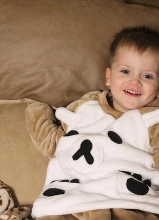 Детская теплая милая пижама