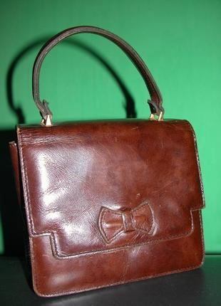 Акция! до 20.12.18 кожаная сумка сумочка с короткой ручкой уникальная вещичка для вас