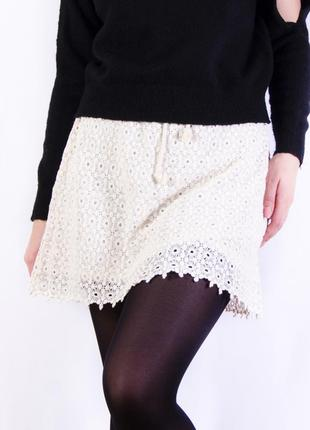 Кружевная юбка, двухслойная белая юбка jennifer&jennifer