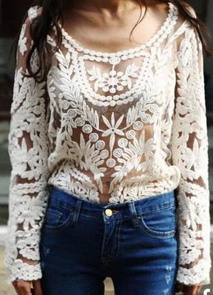 Очень красивая кружевная блузка