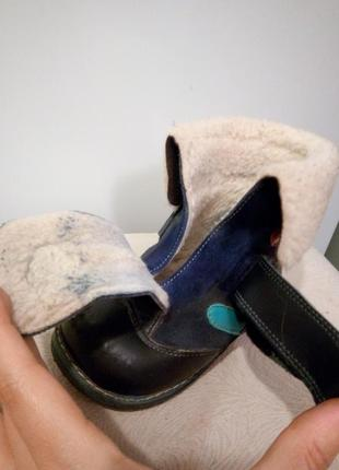 Зимние кожаные ортопедические ботиночки шалунишка5