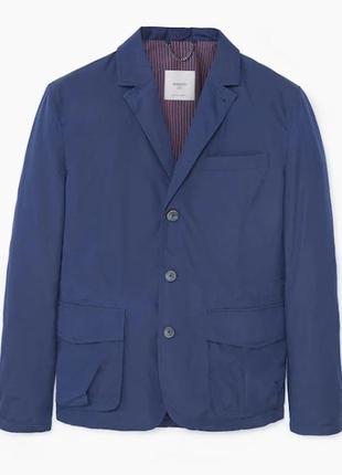 Куртка пиджак mango испания из водоотталкивающей ткани