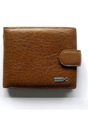 Рыжий кожаный кошелек бумажник портмоне, 100% натуральная кожа, есть  доставка бесплатно
