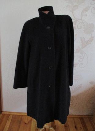 Пальто/кэйп/классическое/60% шерсть, 40% ангора/серое/черное